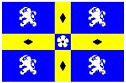 English County Flag 100/% Polyester With Eyelets Durham City Flag 5 x 3 FT
