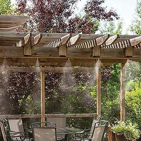 INMUA Kits de nebulización Jardin Terraza Pergola Exterior, Sistema de enfriamiento de Niebla, Sistema de Nebulizador para Greenhouse Garden Patio Gazebo (8M): Amazon.es: Jardín