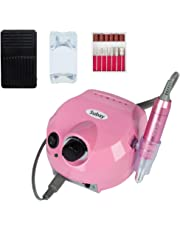 Professional Electric Nail Drill Machine Manicure Pedicure Kit Finger Nail File Tool for Nail Salon and Personal Use (Pink)