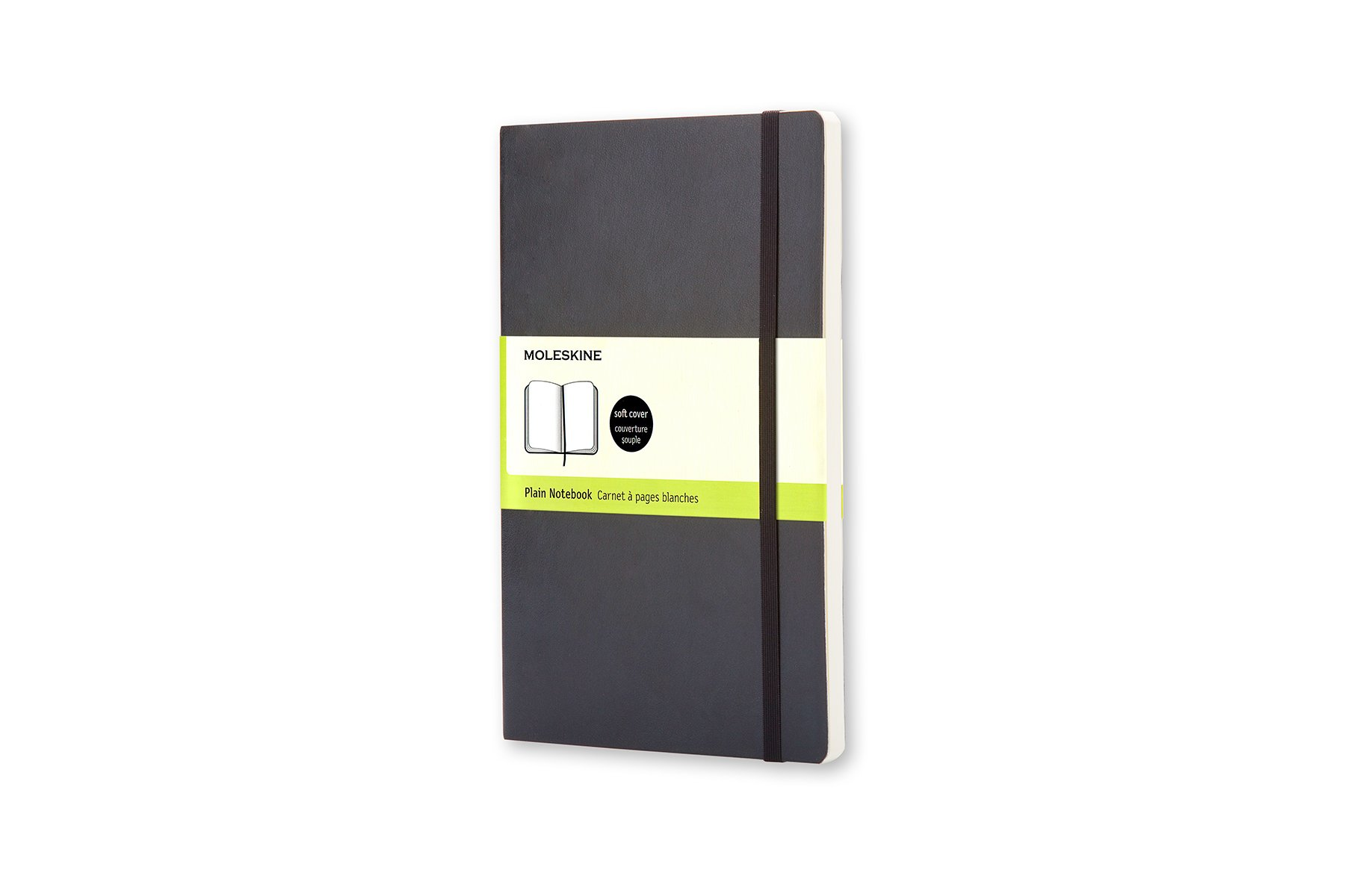 Moleskine Classic Soft Cover Notebook, Plain, Large (5 x...