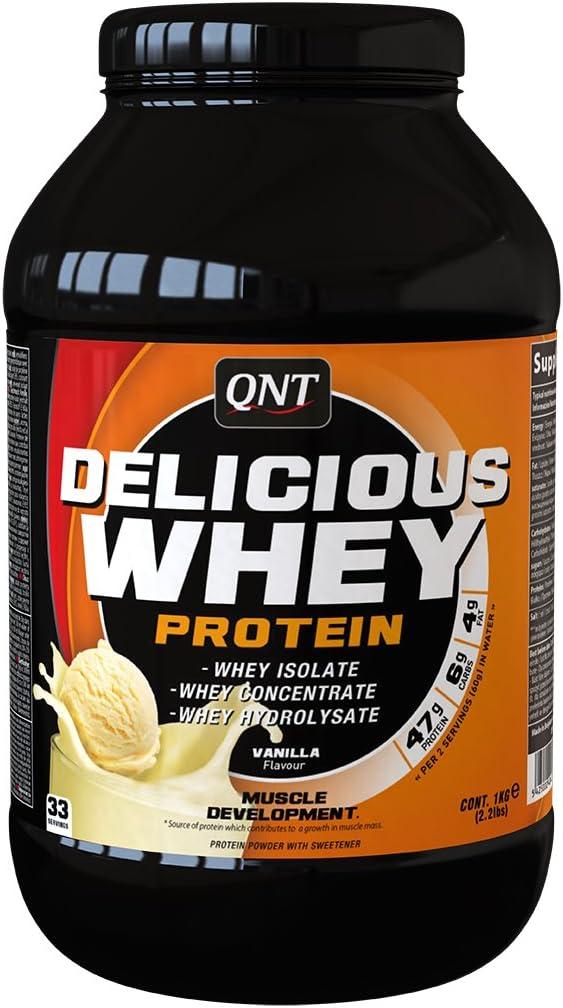QNT Delicious Whey Protein, Sabor Vanilla - 1000 gr