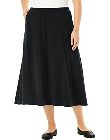 24b1d6382f Woman Within Women's Plus Size A-Line Ponte Skirt