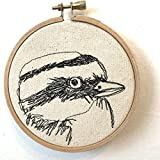Great Kiskadee Freehand Machine Stitched Portrait