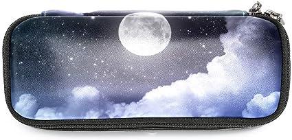 TIZORAX - Estuche para lápices, diseño de luna, estrellas y cielo: Amazon.es: Oficina y papelería