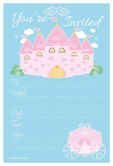 Amazon Com Princess Birthday Party Invitations Fill In Style 20