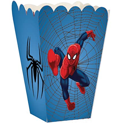 Party Propz Spider Man Theme Popcorn Box(Pack Of 12): Amazon