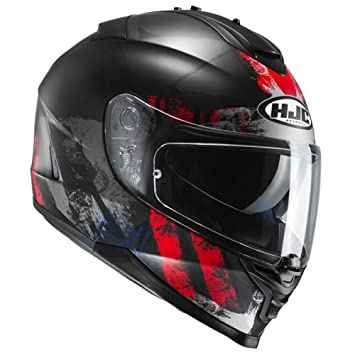 Casco Moto Hjc Is-17 Shapy Rojo (L , Negro)