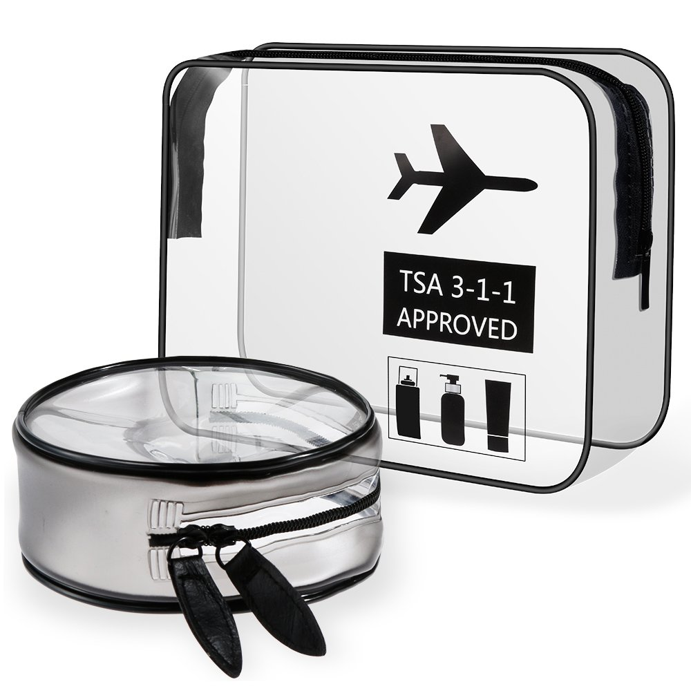Neceser y bolsa de cosméticos que cumplen las pautas TSA.