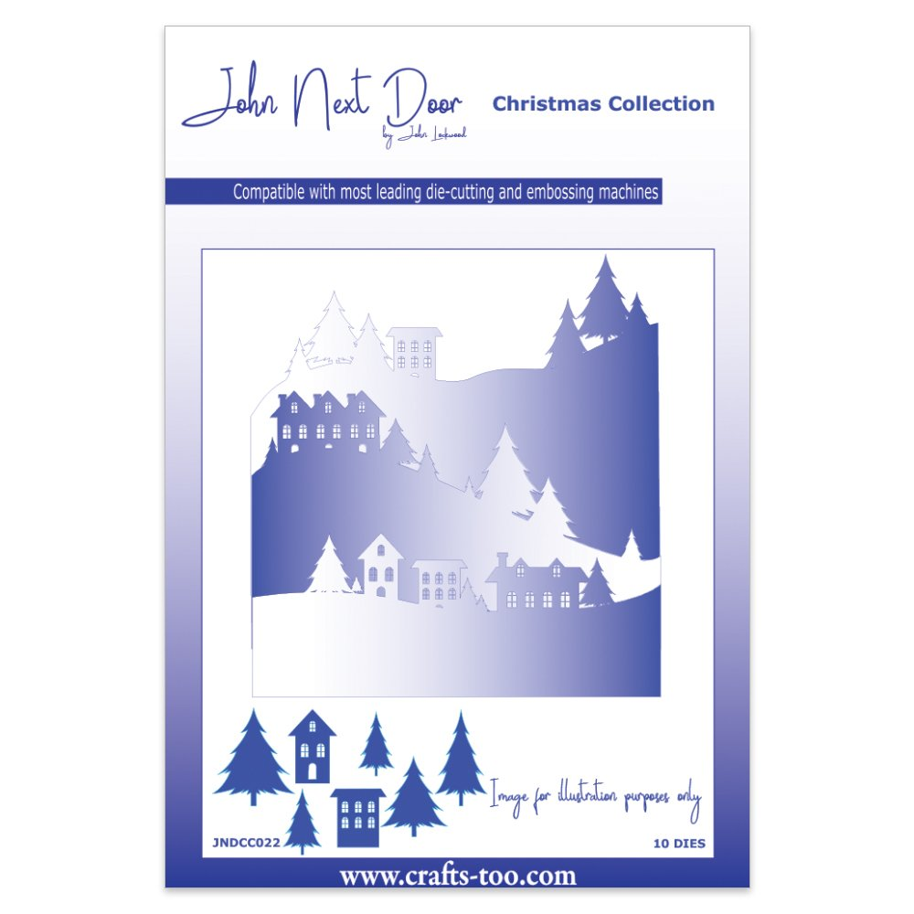 John Next Door Christmas Dies.John Next Door Christmas Dies Snow Scenes 10pcs Amazon