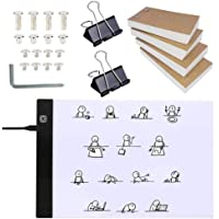 Flip Book Kit with A4 Light Pad for Drawing and Tracing, LED Light Box with Flip Book, 320 Sheets Animation Paper with…