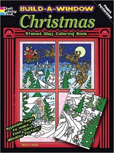 Build A Window Stained Glass Coloring Book Christmas Marty Noble 9780486483948 Amazon Books