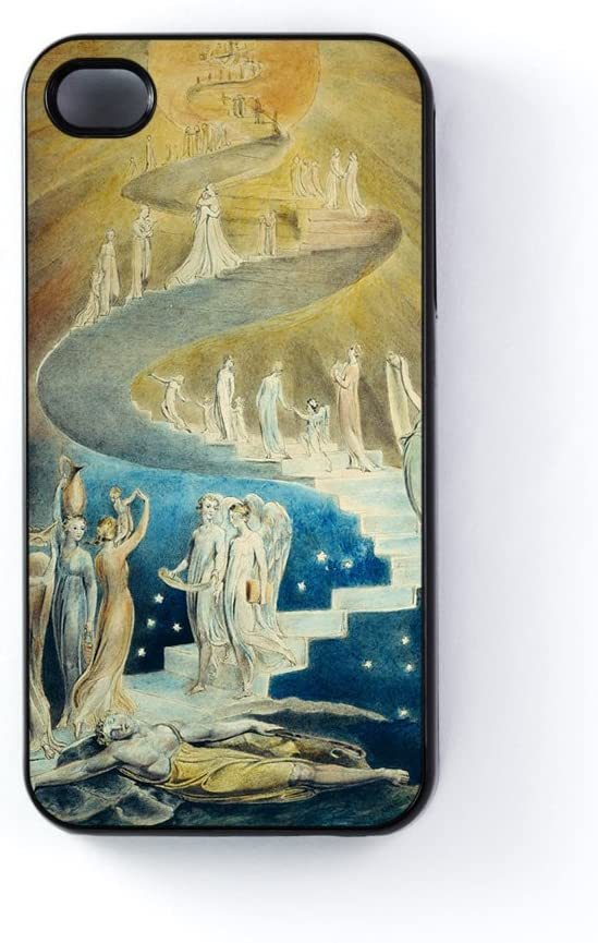 Jacobs escalera por William Blake negro carcasa snap-on protectora para Apple iPhone 4/4s por obras maestras de la pintura + Protector de pantalla gratis: Amazon.es: Electrónica
