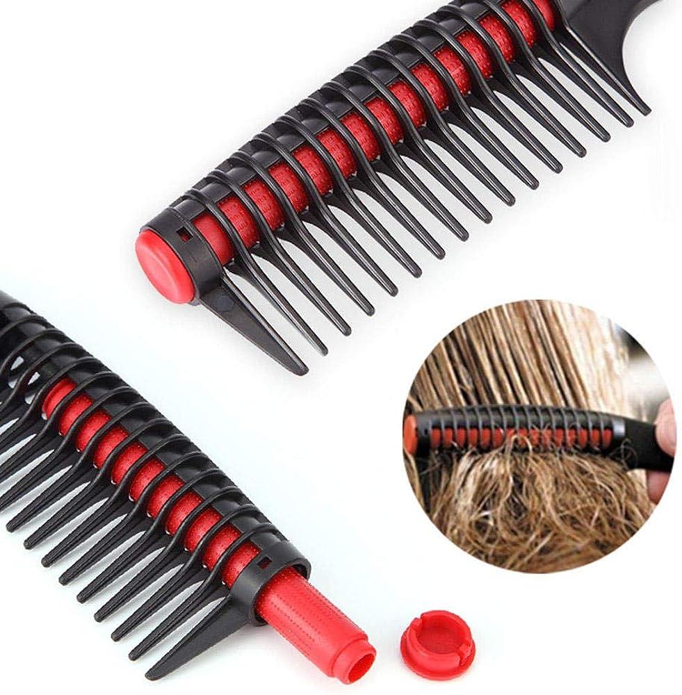 Modolady-comb Peignes Peigne /À Cheveux /À Brosse Peigne en Plastique Antistatique De Brosse De Peigne De Dent Large