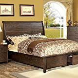 247SHOPATHOME IDF-7252CK-6PC Bedroom-Furniture-Sets, California King, Walnut