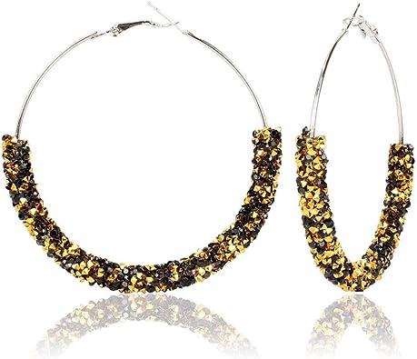Large half circle earrings,Geometric Earrings,Gemstone earrings,Large earrings,Contemporary earrings,Modern Earrings,My Crazy Hands Lab