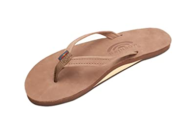 0e6b23322 Image Unavailable. Image not available for. Color: Rainbow Sandals Women's  Single Layer Premier Leather w/Narrow Strap ...
