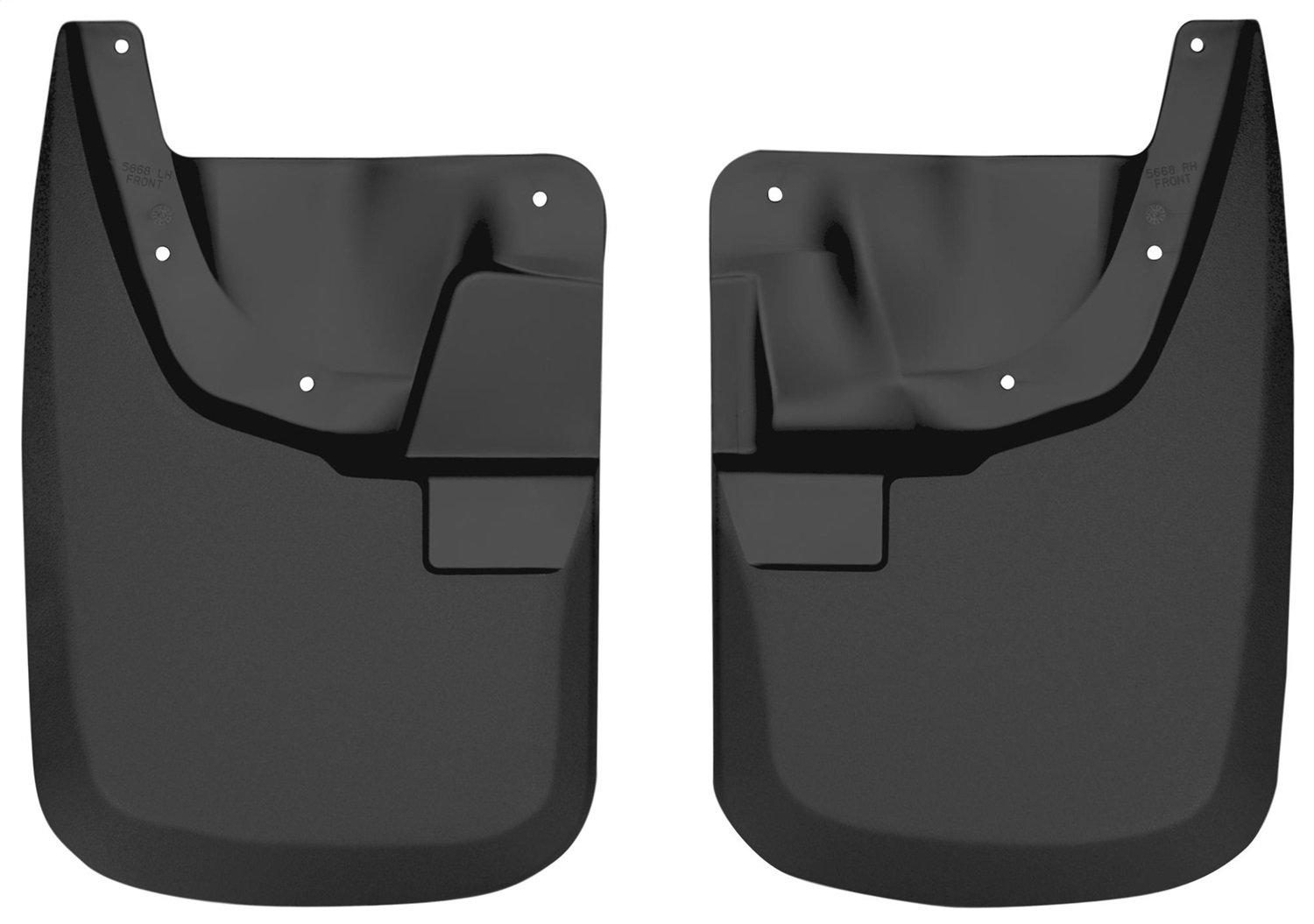 Husky Liners Custom Fit Molded Front Mudguard for Select Ford F-250 /F-350 Models - Pack of 2 (Black) Winfield Consumer Products 56681