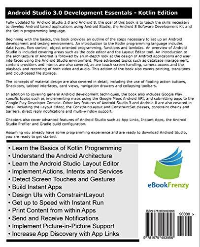 Kotlin / Android Studio 3 0 Development Essentials - Android 8