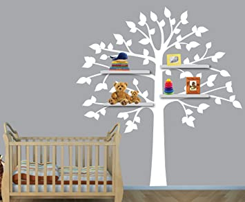 Shelf Tree Decals, White Tree Wall Decal, Perfect For Shelf Or Shelving Part 22