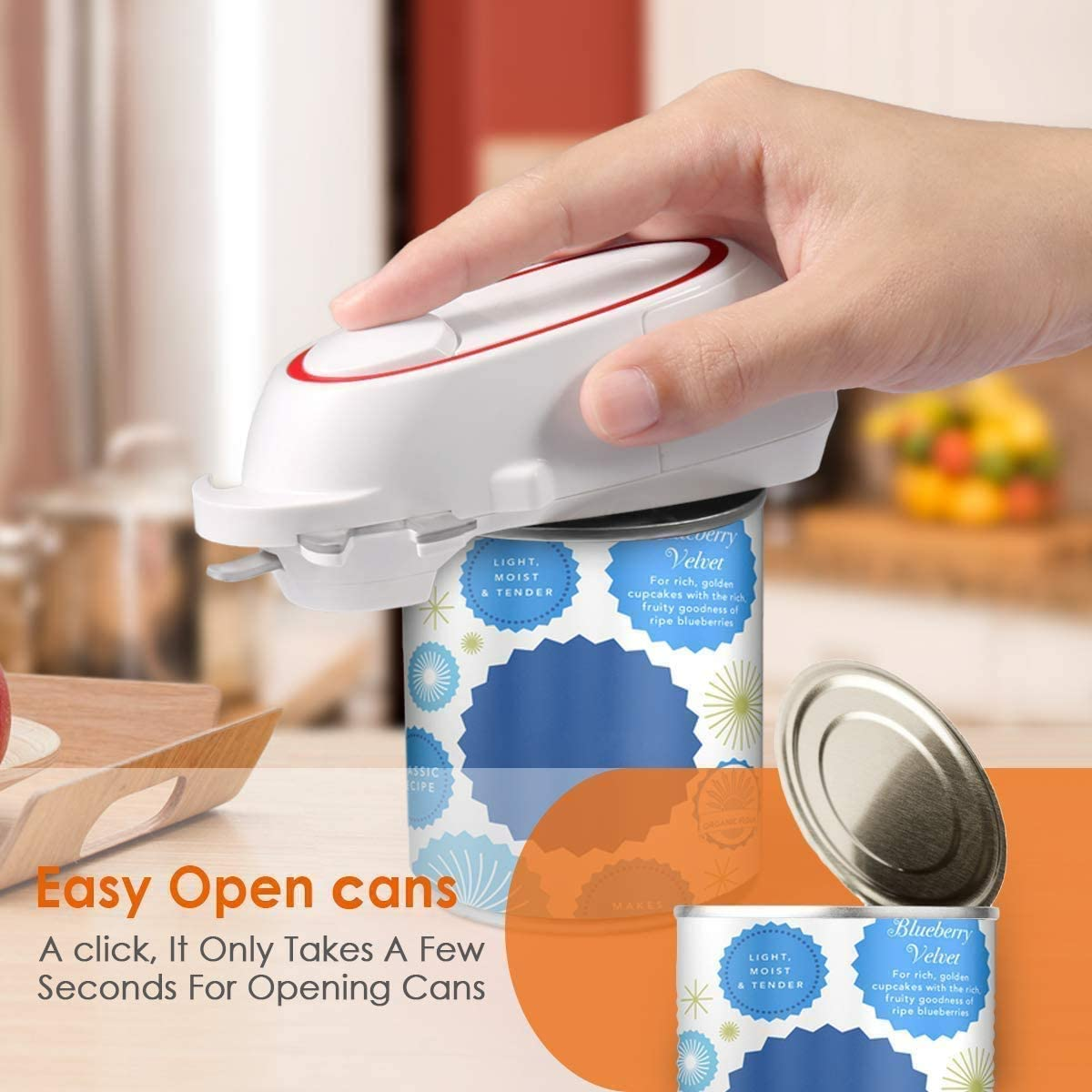 Kitchen Can Opener Electric Safe /& Easy Automatic Can//Tin Opener 2020 New 5 in 1 Multi-function Can Opener Electric Can Opener Chef/'s Best Choice -Powerful