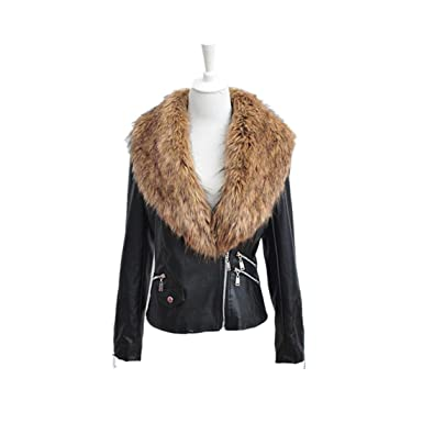 Winter Designer Coats | Rtyou Fashion New Designer Women Warm Winter Faux Fur Collar Coat
