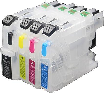 uniprint LC223 recargables cartucho de tinta para Brother DCP ...