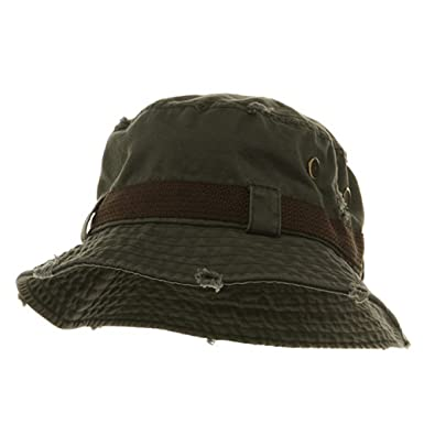 23c2e31802bcde Image Unavailable. Image not available for. Color: Frayed Cotton Twill  Washed Bucket Hat ...