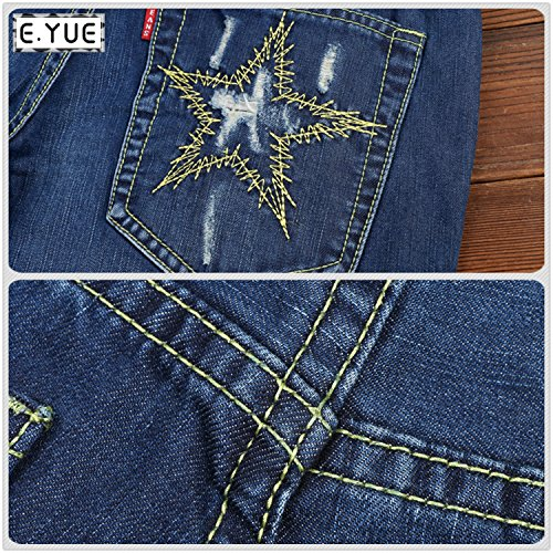 E.YUE Jeans-Herren Slim Fit Basic Style Stretch-Denim Jeans-Hose#E01