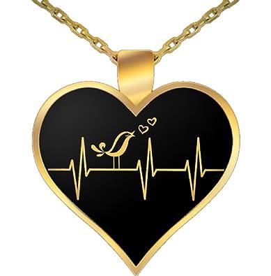 Amazon necklace for singer singer pendant 22 inch gold amazon necklace for singer singer pendant 22 inch gold plated necklace and heart shaped pendant by vitazi designs singing heartbeat black aloadofball Choice Image