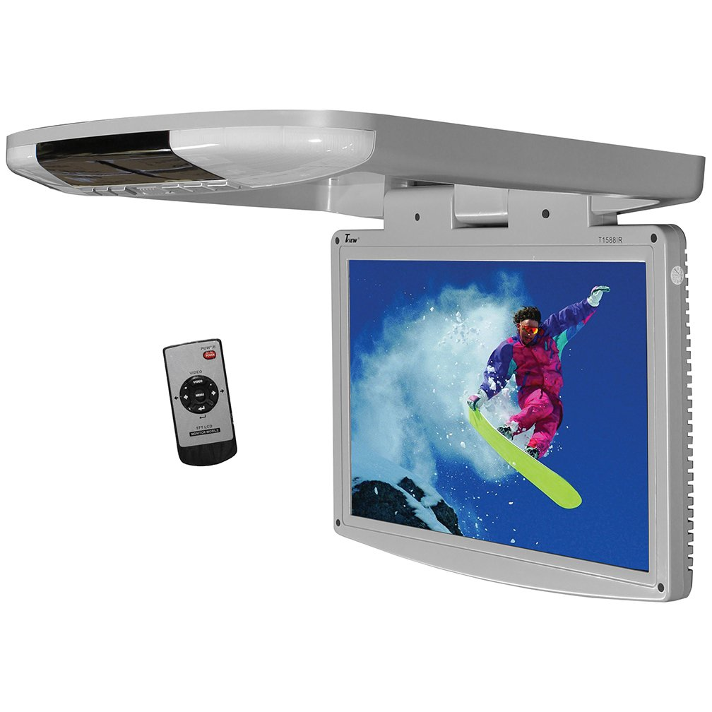 Tview T1588IR-GR Car Flip Down Monitor-Set of (Grey)