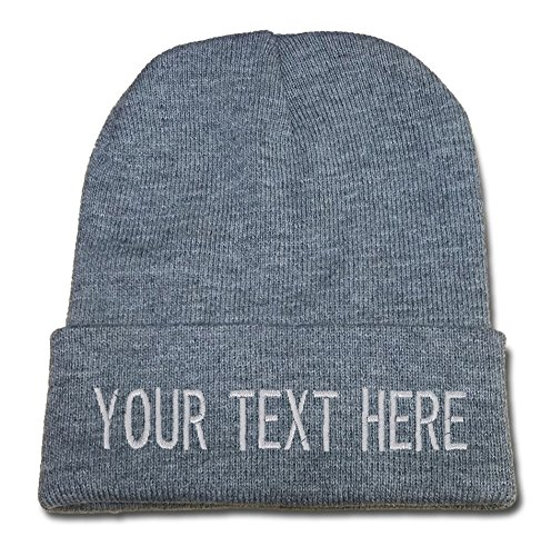 KYUAN Custom-designed Embroidery Text Logo Beanie Embroidery Knitted Hat Cap (Custom Bucket Hat compare prices)