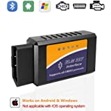 ELM327 OBD2 Bluetooth OBDII Code Reader Car Diagnostic Scanner Check Engine Light for Android Windows Devices with Torque Pro