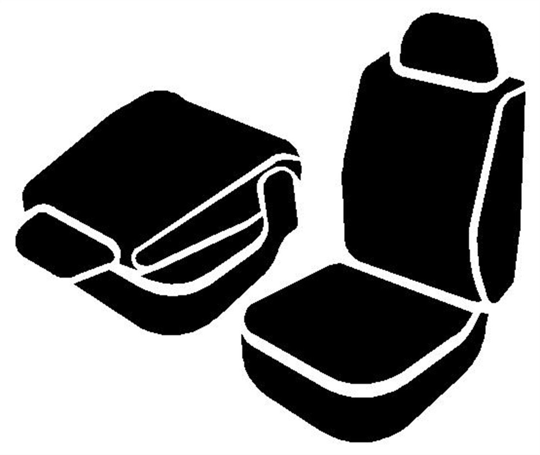 Front Bucket Seats//Saddle Blanket Fia TR49-54 GRAY TR40 Wrangler Gray Seat Cover