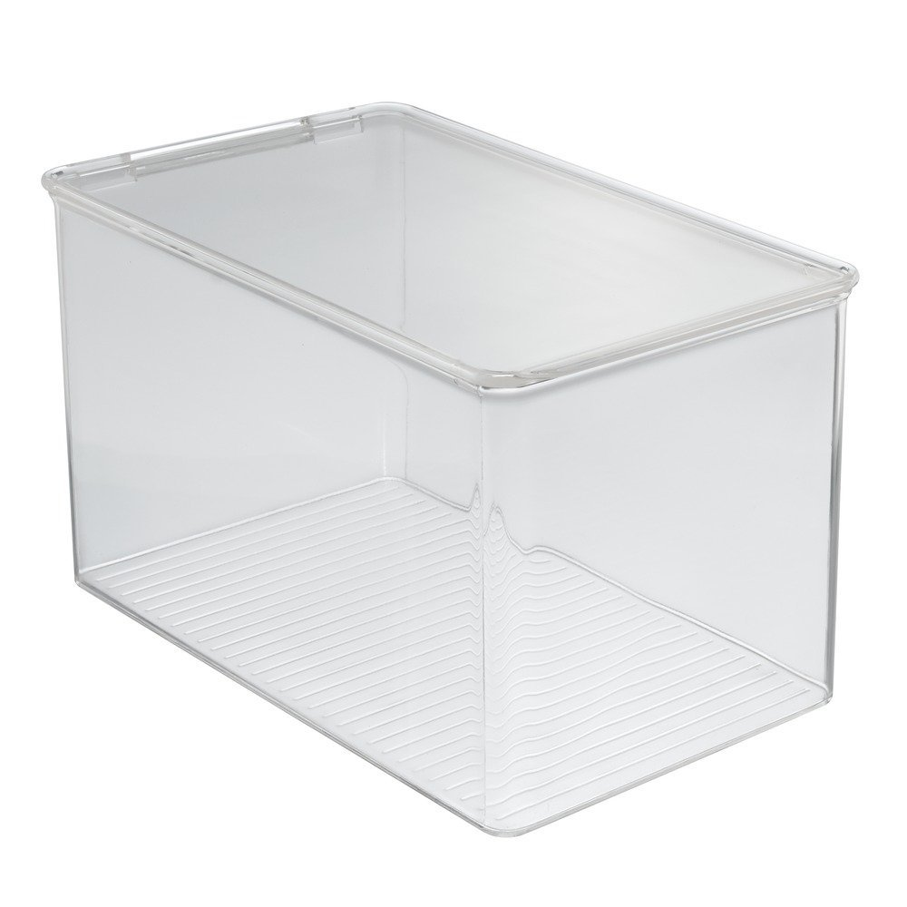 InterDesign Closet Binz Stackable Box for Blouse with Lid, Clear Inc 77230