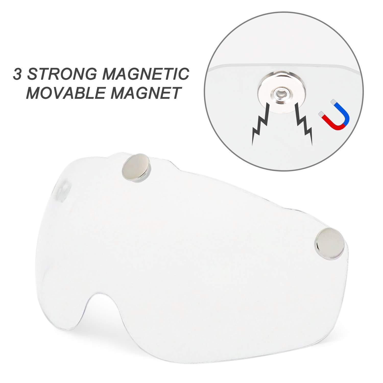 Bike Helmet Goggles Visor Shield, Removable Detachable Magnetic Visor Goggles Shield for Cycling Helmet in Model BC-069