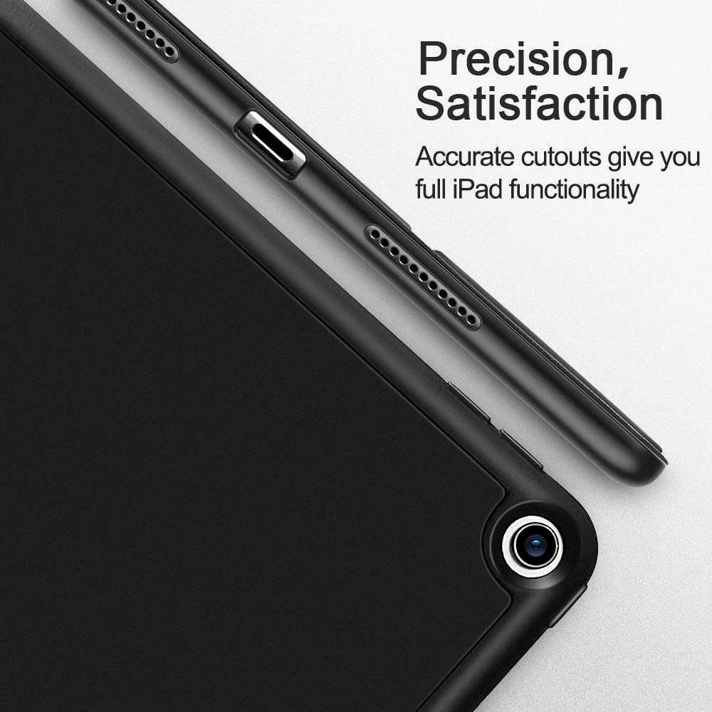 2019 Flexible TPU Back Cover with Rubberized Coating 3RD Gen Black Auto Sleep//Wake and Viewing//Typing Stand for iPad Air ESR Rebound Slim Smart Case Specially Designed for iPad air 3 10.5 2019