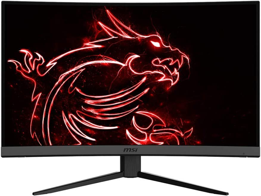 "MSI 27"" FHD (1920 x 1080) Non-Glare HDR Ready 165Hz 1ms 16:9 HDMI/DP/USB FreeSync Height Swivel Tilt Adjustment Curved Gaming Monitor (OPTIX MAG272C), Black"