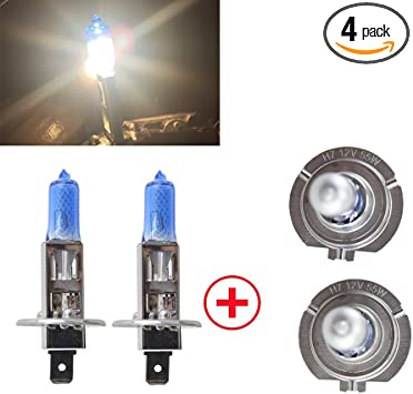 H1 Xenon Ultra White 100w Main Dipped Beam Bright Headlamp Halogen 448 Bulbs