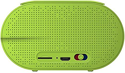 PopClik AIRYBOX Portable Wireless Bluetooth 4.0 Shockproof Rugged Speaker with Aux 3.5 mm Micro SD Card Input – Light Green