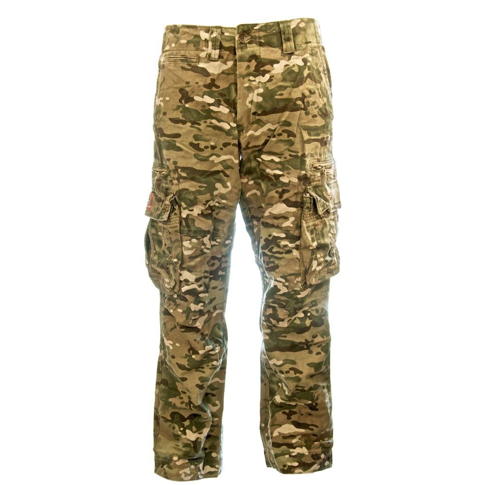 Molecule Men's Classic Cargo Pants - 100% Cotton Army-style Tactical Pockets | USA 37''/L (Tag XL) Splotchy Camo