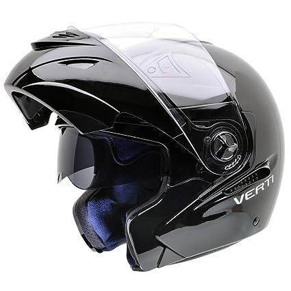 NZI 150207G046 Verti Casco de Moto, Color Negro, Talla 64 (XXXL)