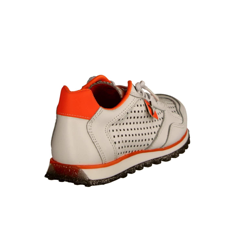 Cetti C848 SRA Weiss Weiß Orange (weiß) (weiß) (weiß) - Schnürschuh- Damenschuhe Top Trends Weiß Leder (Sweet) 545f42