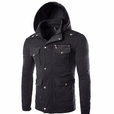 Jyjm Sport Winter Reißverschluss Kurze Jacke Pocket Multi Kleidung Und Hoodie Jugend Student Herren Herbst BBAFq