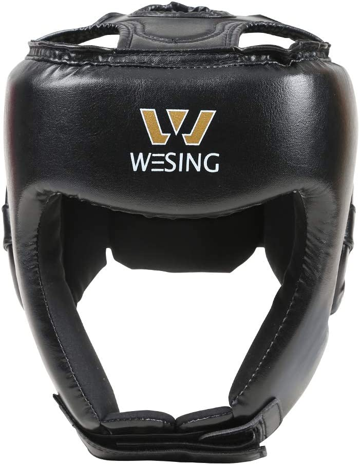 W WESING Boxing Headgear Martial Arts UFC Combat Training Head Guard