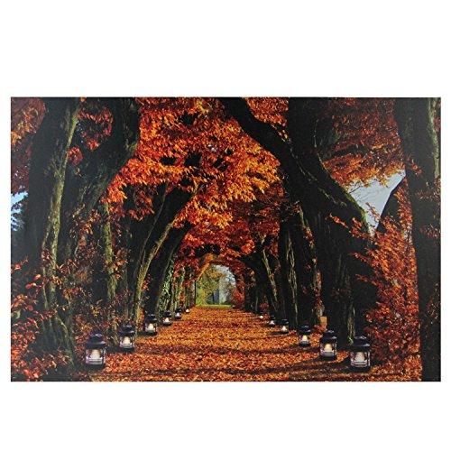 "Northlight LED Foliage Lanterns Canvas Wall Art, 23.5"" x 15."