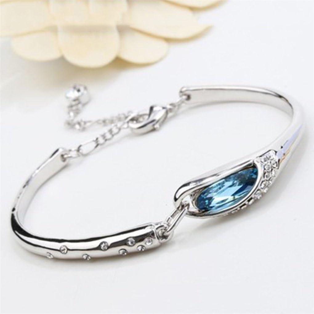 Glass Shoe Bracelet CanVivi Sea Blue Elegant Temperament Crystal Bracelet