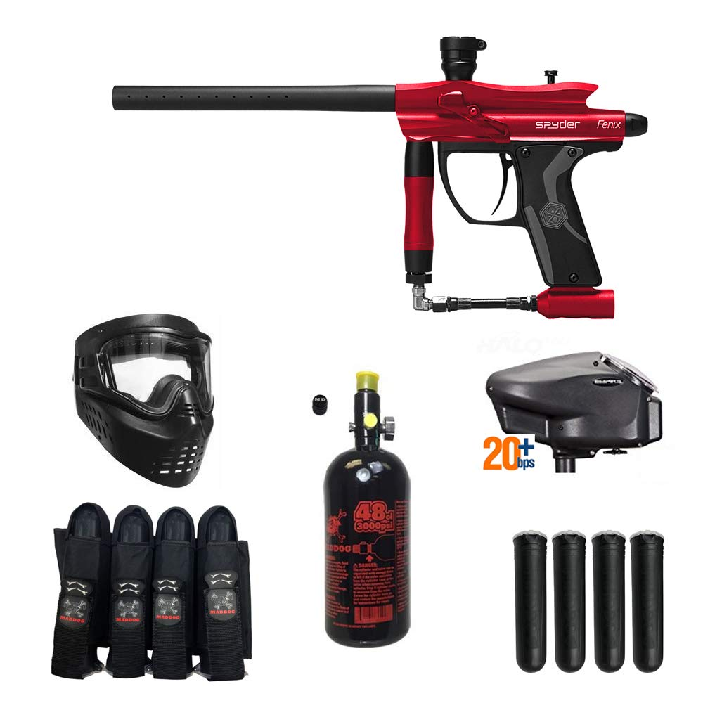 MAddog Spyder Fenix Expert Paintball Gun Package - Red by MAddog