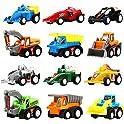 12-Pks. Yeonha Toys Pull Back Construction & Race Car Toy Vehicles