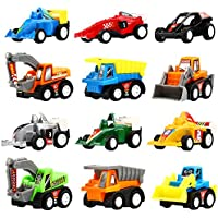 Pull Back Vehicles,12 Pack Assorted Construction Vehicles...