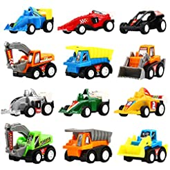 Yeonha Toys Pull Back Vehicles, 12 Pack ...